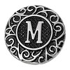 Clicks en Chunks | Click letter M zilver