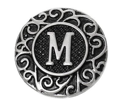 Clicks en Chunks | Click letter M zilver voor clicks sieraden