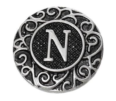 Clicks en Chunks   Click letter N zilver
