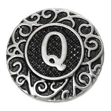 Clicks / Chunks Click letter Q zilver
