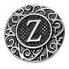 Clicks en Chunks   Click letter Z zilver voor clicks sieraden