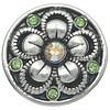 Clicks en Chunks | Click flower brilliant crystals zilver