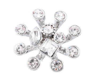 Clicks en Chunks | Click spider crystal zilver