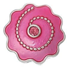 Clicks en Chunks | Click smiley roze zilver