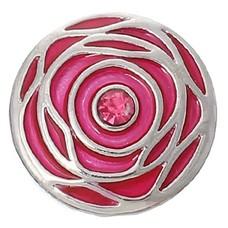 Clicks en Chunks | Click roos roze zilver