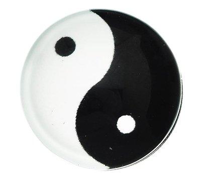 Clicks en Chunks | Click yin yang zilver voor clicks sieraden