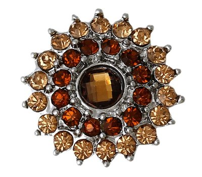 Clicks / Chunks Click bling bloem bruin zilver
