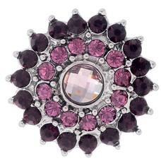 Clicks / Chunks Click bling bloem paars roze