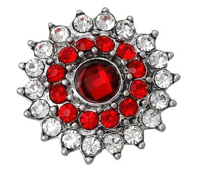 Clicks en Chunks   Click bloem rood voor clicks sieraden