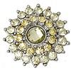 Clicks en Chunks | Click bling bloem geel zilver