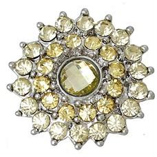 Clicks / Chunks Click bling bloem geel zilver