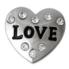 Clicks en Chunks | Click hart love crystals zilver