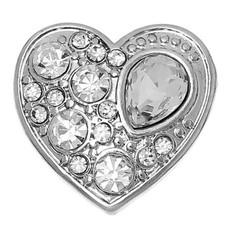 Clicks en Chunks | Click hart crystals zilver