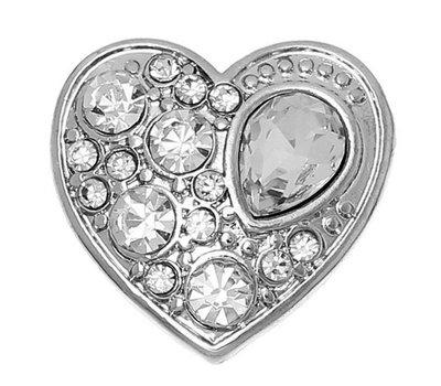 Clicks en Chunks   Click hart crystals zilver