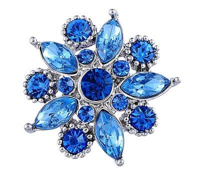 Clicks / Chunks Click star flower blauw zilver
