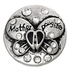 Clicks / Chunks Click vlinder mother daughter wit