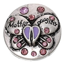 Clicks / Chunks Click vlinder mother daughter paars