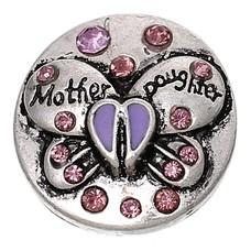 Clicks en Chunks   Click vlinder mother daughter paars