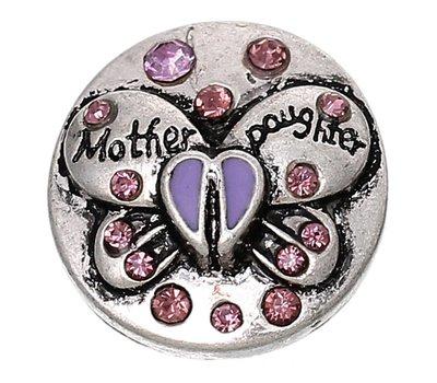 Clicks en Chunks | Click vlinder moeder dochter paars voor clicks sieraden