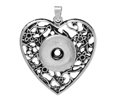 Clicks Sieraden Clicks hanger hart antiek zilver