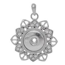 Clicks Sieraden Clicks hanger bloem met crystals zilver