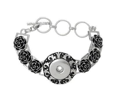 Clicks Sieraden Clicks armband bloem zilver