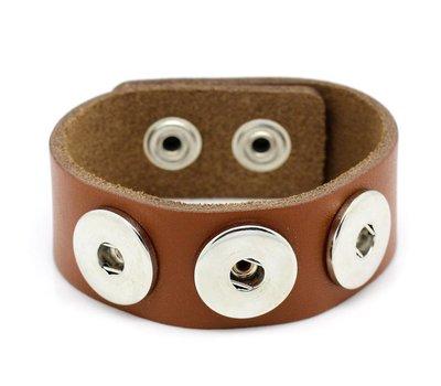 Clicks Sieraden Clicks armband leer bruin