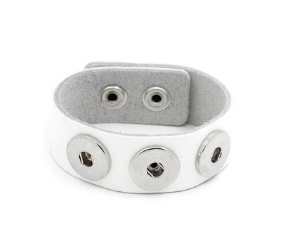 Clicks Sieraden Clicks armband leer wit