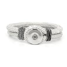 Clicks Sieraden Clicks knoop armband leer wit
