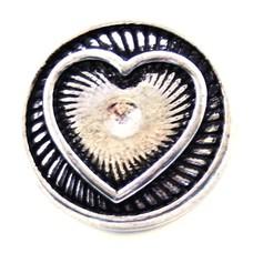 Clicks en Chunks | Click zilveren hart