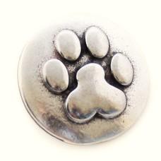 Clicks en Chunks | Click hondenpootje zilver