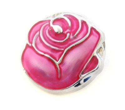 Clicks en Chunks   Click donker roze roos
