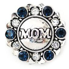 Clicks en Chunks | Click mom strass zilver