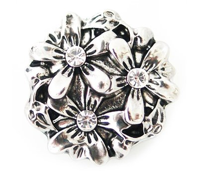Clicks en Chunks | Click flowerbed zilver