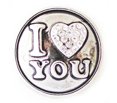 Clicks / Chunks Click i love you zilver