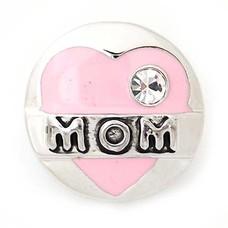 Clicks en Chunks | Click mom met steentje zilver
