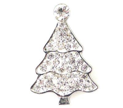 Clicks en Chunks | Click kerstboom wit strass