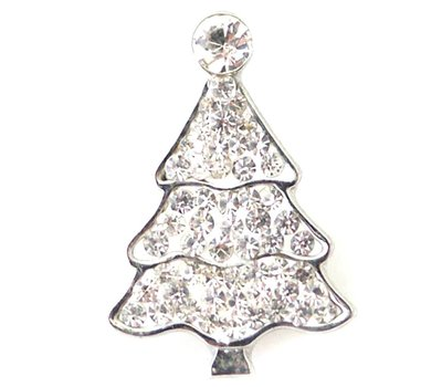 Clicks en Chunks | Click kerstboom wit voor clicks sieraden