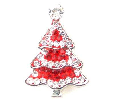 Clicks en Chunks | Click kerstboom rood strass