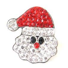 Clicks en Chunks | Click kerstman met strass zilver