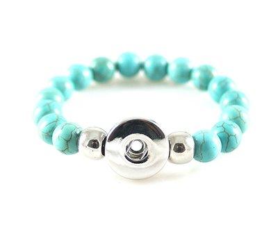 Clicks Sieraden Clicks kralenarmband turquoise