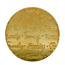 Floating Charms Floating locket handgeschreven disk family goud
