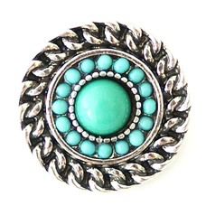 Clicks / Chunks Click rond turquoise zilver