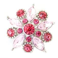 Clicks en Chunks | Click flower roze zilver