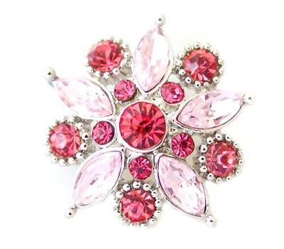 Clicks en Chunks   Click flower roze zilver