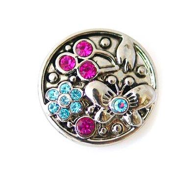Clicks en Chunks   Click vlinder met strass voor clicks sieraden