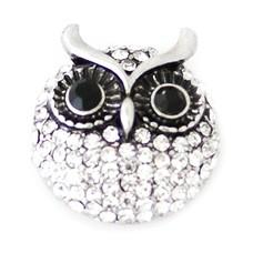 Clicks en Chunks | Click crystal owl zilver