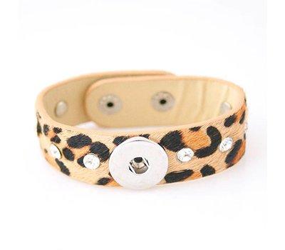 Clicks Sieraden Clicks armband panter met strass