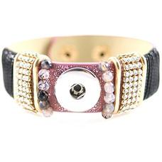 Clicks Sieraden Clicks armband lovely paars met strass
