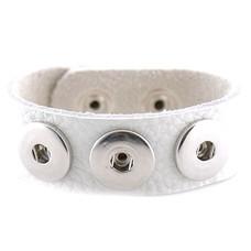 Clicks Sieraden Clicks armband nubuck leer wit